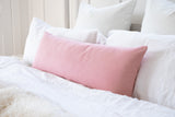 Solid Baby Peach Pink Maternity Long Bolster Body Pillow Cover