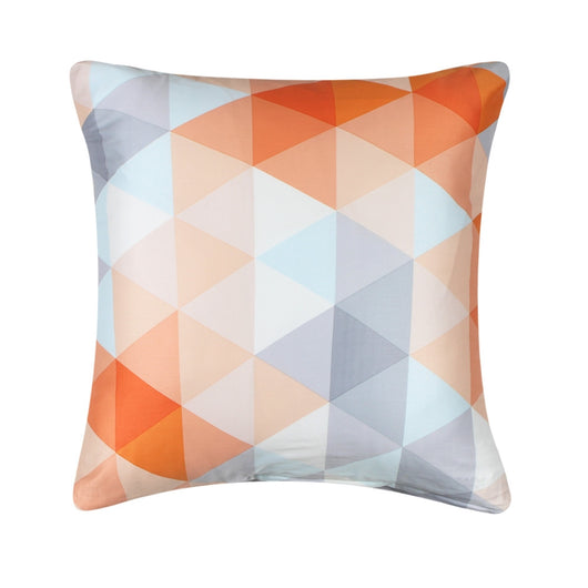 Sateen Gray Orange Triangle Pattern Pillow Cover Decorative Stunning Gray And Orange Decorative Pillows