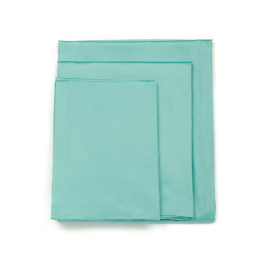 820TC Soild Powder Blue Duvet Set
