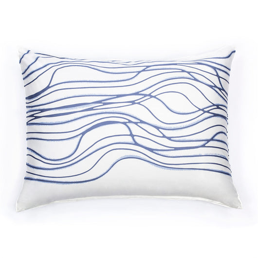 White & Blue Sham Pillow Case