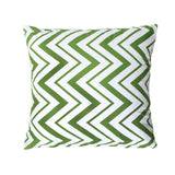 """Ziggy"" Green Chevron Decorative Throw Pillow Cover"