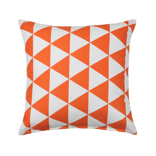 Orange Triangle Pattern Decorative Throw Pillow Cover