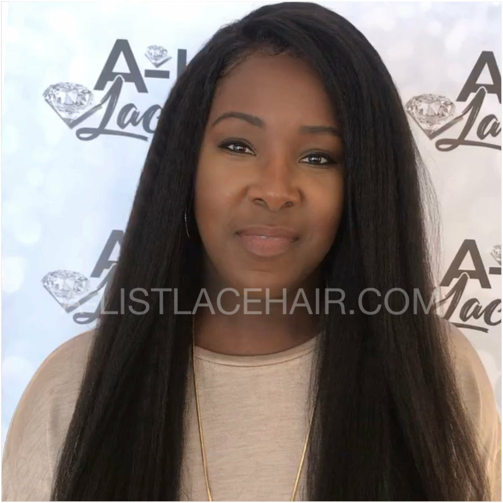 The AMARACHI - Kinky Straight - Glueless Lace Wig
