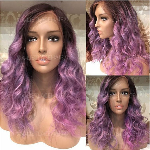 Glueless Full Lace Wig - Lavender