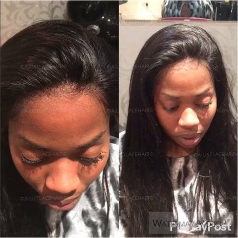The AMANDA - Glueless Full Lace Wig Straight 2/8 OMBRE