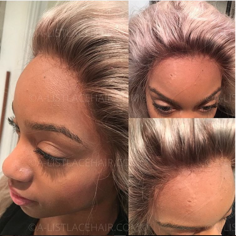 The OMEGA - Glueless Full Lace Wig - Colour #613 with Medium Brown Roots - Straight