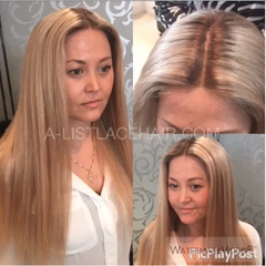 The CAMILLA - Glueless Full Lace Wig Straight #27 Dark Roots