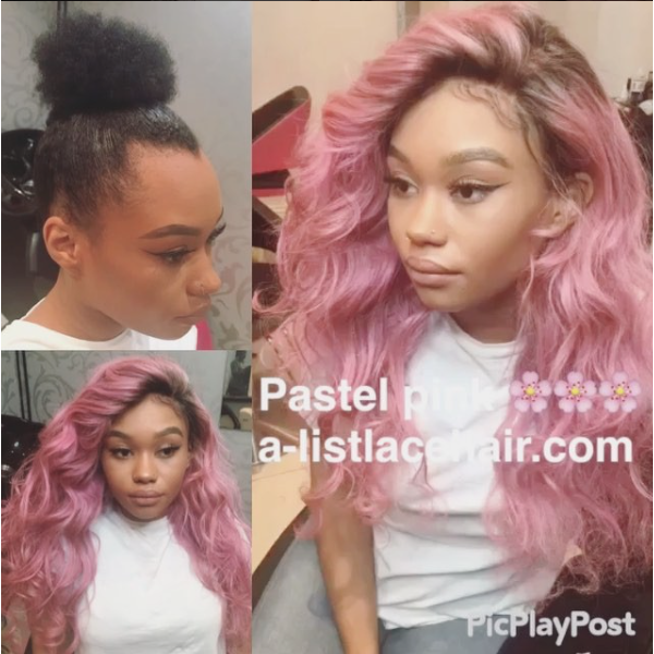 The TYREE PASTEL PINK - Glueless Full Lace Wig Body Wave