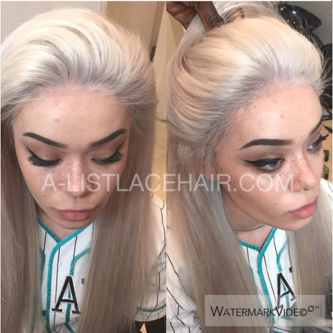 The LUCY - Ice Blonde Glueless Full Lace Wig Straight