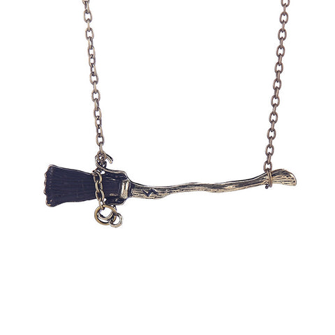 Broomstick Necklace Harry Potter