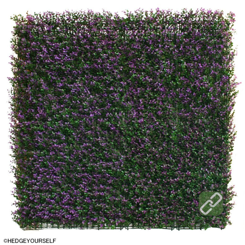 Hedge Panel - Bush Lavender - Artificial Garden Screen