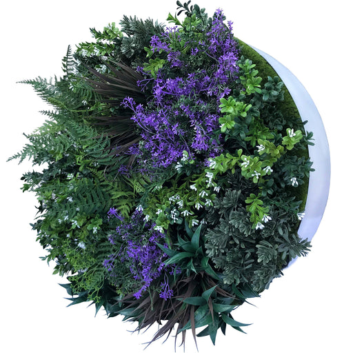 Hedge Panel - Lavender Circlet | Green Wall Disk - 60cm