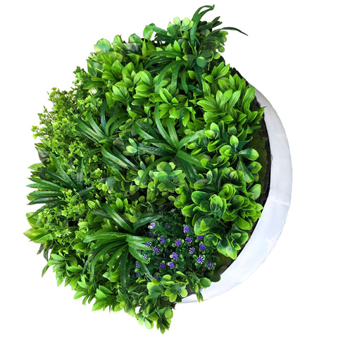 Hedge Panel - You Spin Me Right Round | Green Wall Disk - 60cm