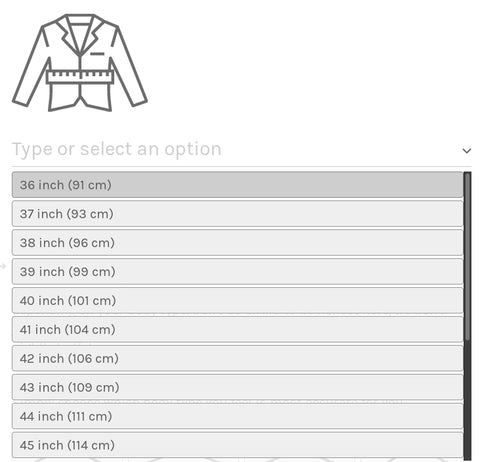 What is your suit jacket size?