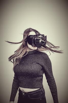 Woman wearing Freefly VR Beyond