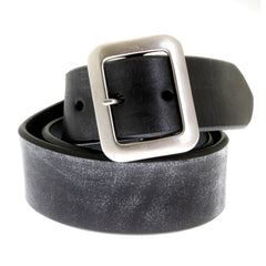Sugar Cane Mens Black Leather Vintage Finish Casual Belt