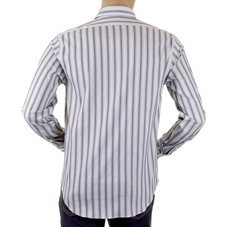Armani shirt mens long sleeve striped shirt