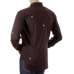 Paul Smith shirt mens dark brown long sleeve shirt - Kitmeout