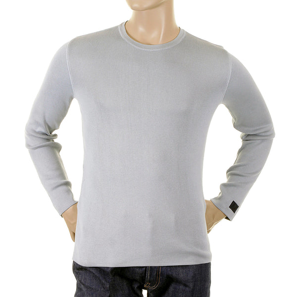 Armani Jeans mens grey jumper knitwear made in Italy