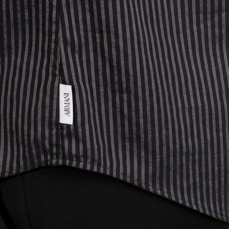Armani mens black striped shirt