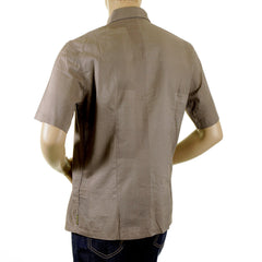 Armani Jeans taupe shirt with soft pointed collar