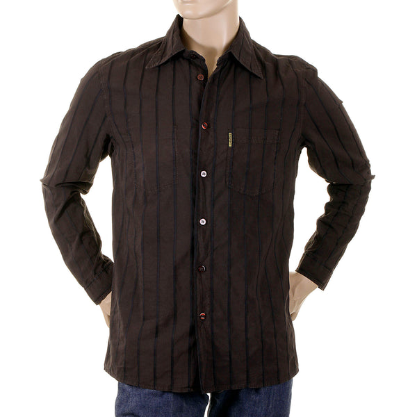 Armani brown Shirt made in Italy darted back