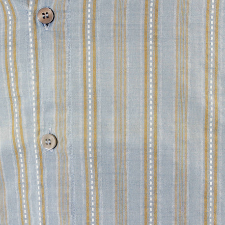 Made in Italy Armani blue striped shirt 100% cotton