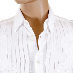 D&G shirt Dolce & Gabbana white fitted long sleeve shirt - Kitmeout