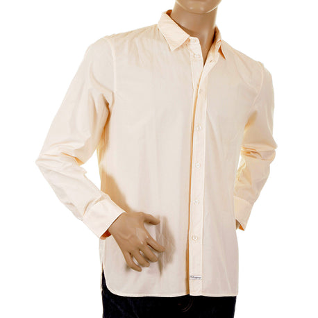 CP Company Shirt mens washed peach long sleeve shirt - Kitmeout