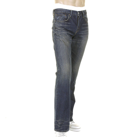 Sugar Cane Mens Japanese Selvedge Hard Wash Vintage Boot Cut Denim Jeans