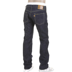 Sugarcane Slimmer Cut One Wash Japanese Selvedge Denim Navy Jeans