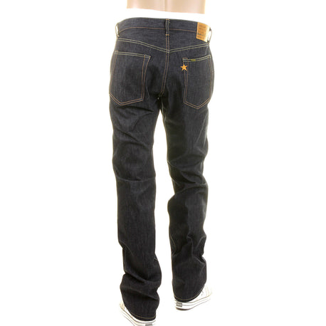 Sugar Cane Slim Navy Japanese Selvedge Star Denim Non Wash Jeans