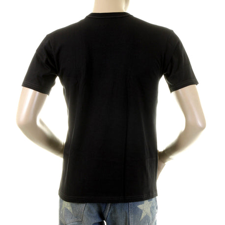 Whitesville Black Regular Fit 100% Cotton T-Shirt