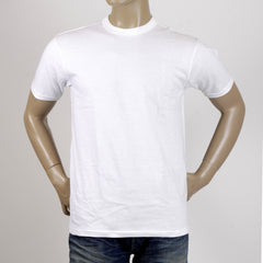 Whitesville White Regular Fit Crew Neck Short Sleeve T-Shirt