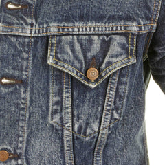 Sugar Cane Lone Star Light Hard Wash Denim Jacket with Fading