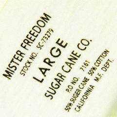 Sugar Cane Limited Edition Ivory Crew Neck Mister Freedom T-Shirt