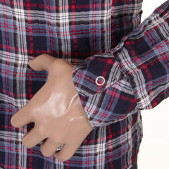 Armani Jeans check Shirt in Blue - Kitmeout