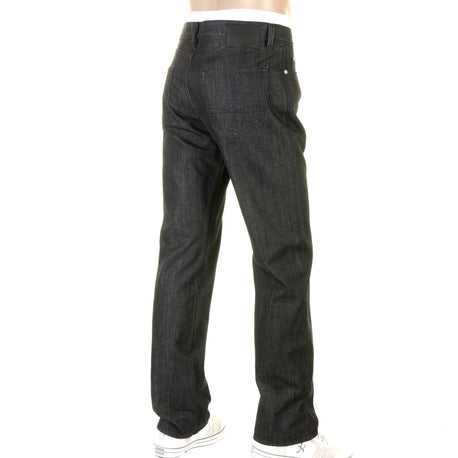 Washed black denim Boss Black jeans Texas style