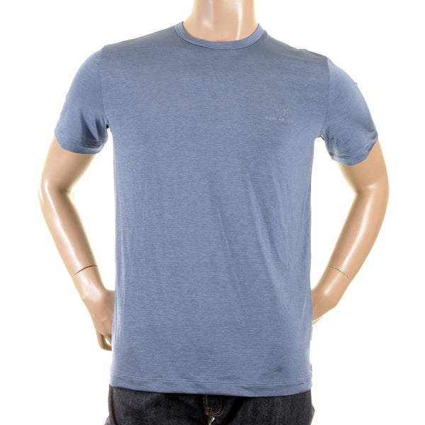 Versace t shirts pale blue crew neck t shirt
