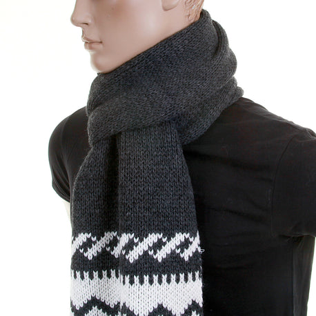 Armani mid grey knitted scarf made in Italy - Kitmeout