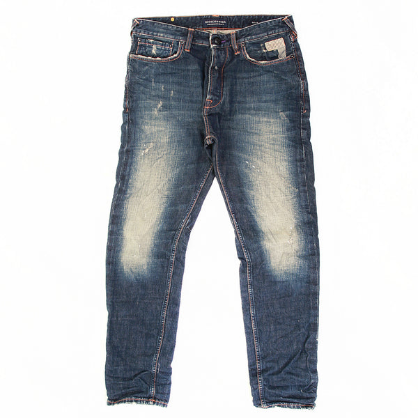 Scotch & Soda Dean lot 2 dark worn finish denim jeans