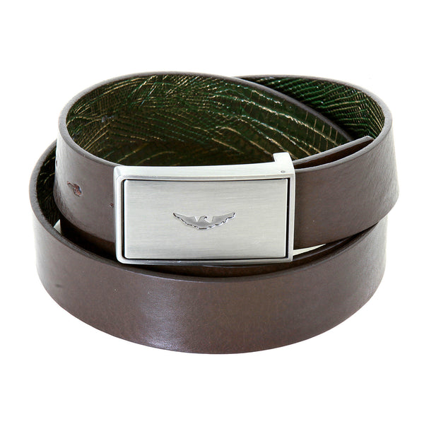 Armani men's reversable green brown belt made in Italy