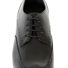 Lace up Hugo Boss black shoes brogue Frano