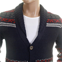 Hugo Boss Orange Label mens navy cardigan