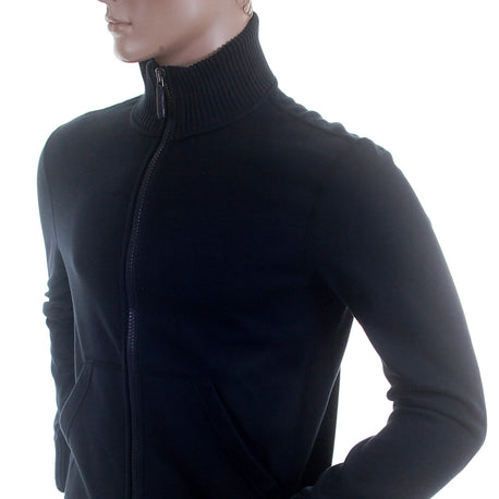 Armani Turtle Neck navy zip up sweatshirt