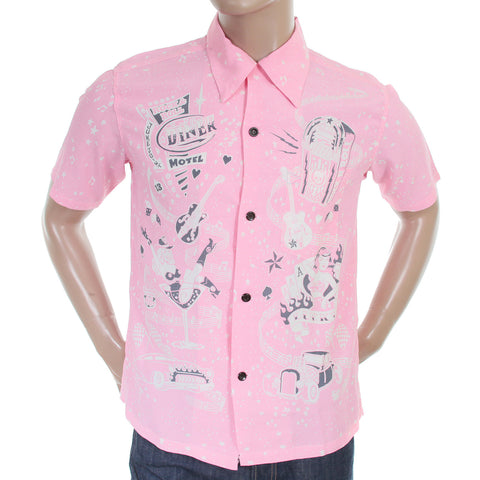 Pink Short Sleeve Shirt by Sun Surf. Vince Ray Keoni of Hawaii