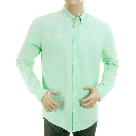 Scotch & Soda mens pastel green faded oxford shirt