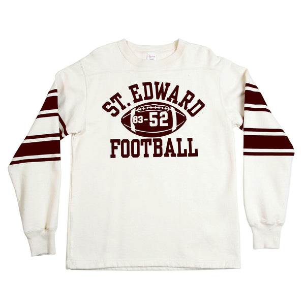 Cheswick Crew Neck Ecru College Football Sweatshirt