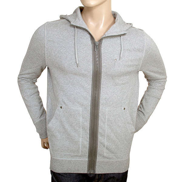 Boss Orange Label grey Ztylo zip up mens Hugo Boss sweatshirt