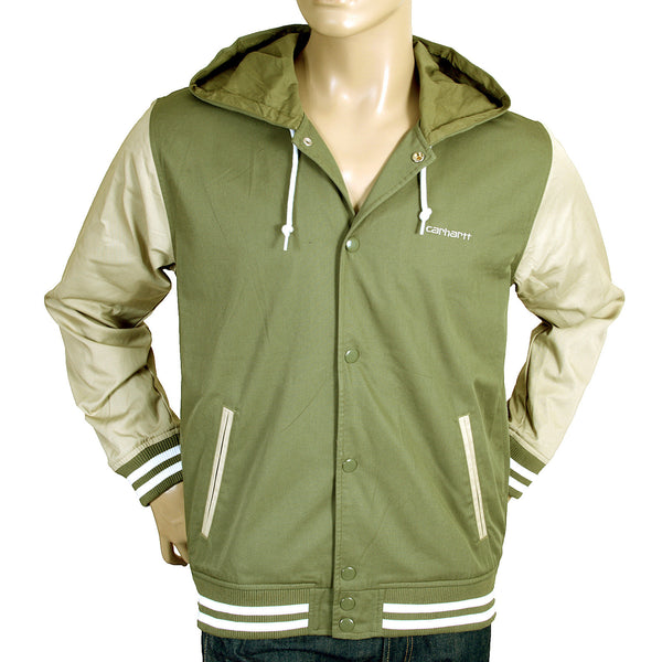 Carhartt mens green and stone hooded Robson jacket - Kitmeout